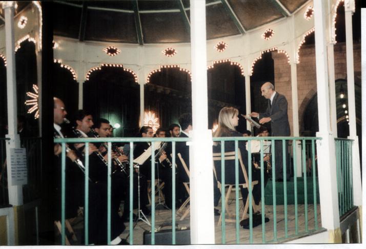 Il Maestro Donato Ricci durante un'esibizione