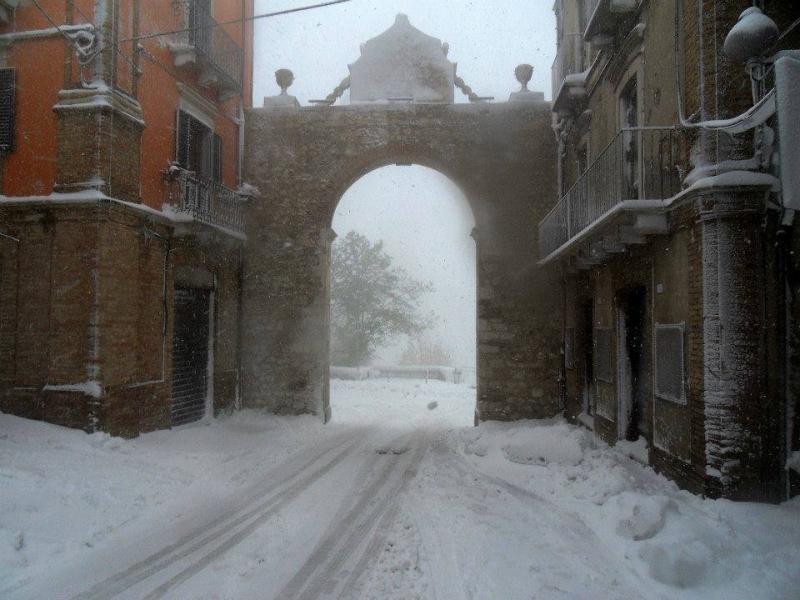 foto scattata durante la nevicata dei giorni scorsi